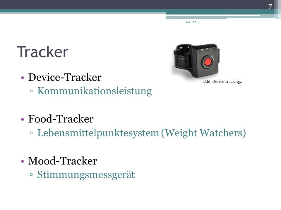 Tracker Device-Tracker Food-Tracker Mood-Tracker