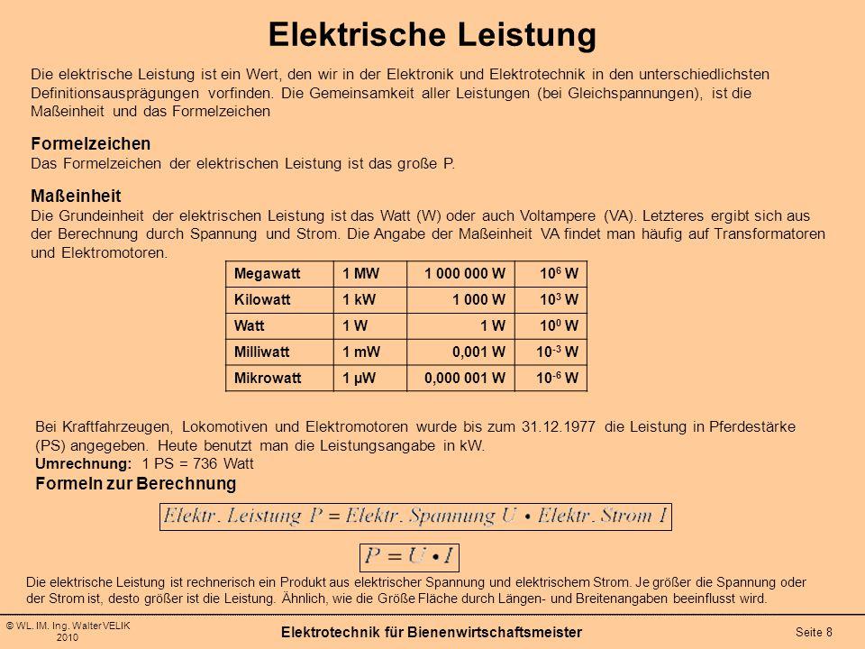 Meisterkurs Bienenwirtschaft Elektrotechnik Ppt Video Online Herunterladen