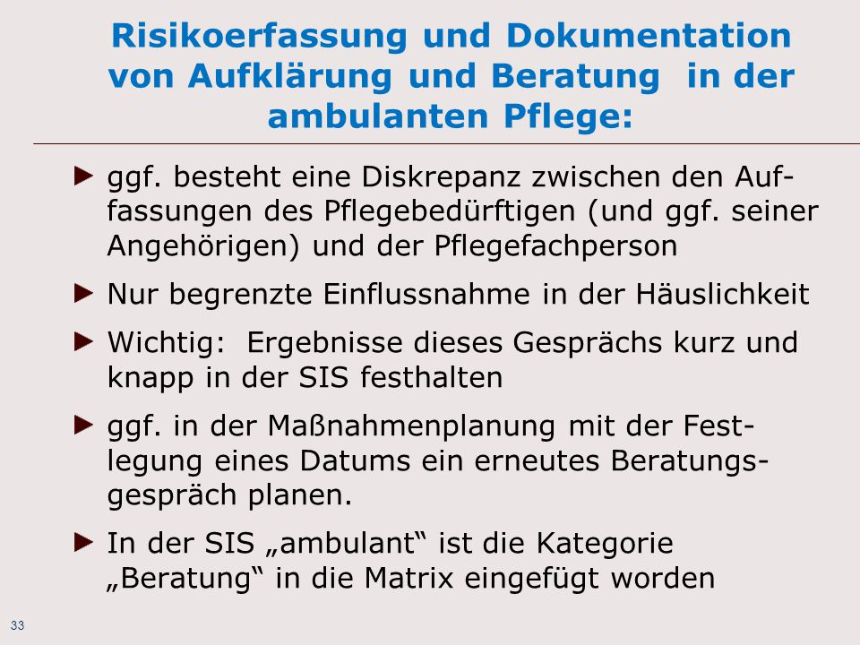 risikoerfassung und dokumentation von aufklrung und beratung in der ambulanten pflege - Beratungsgesprach Pflege Beispiel