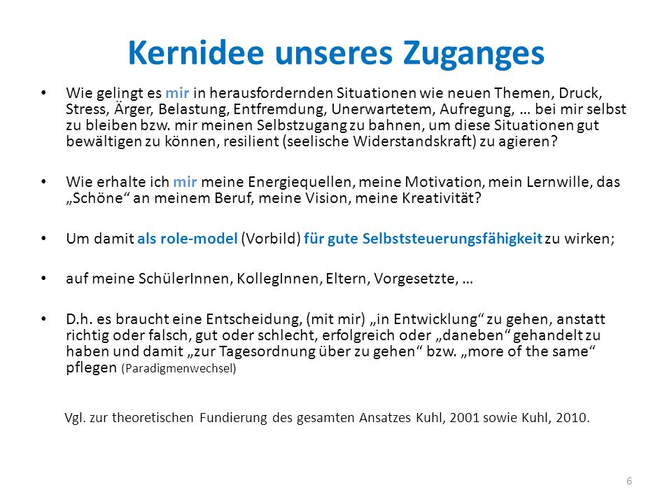 Kernidee unseres Zuganges