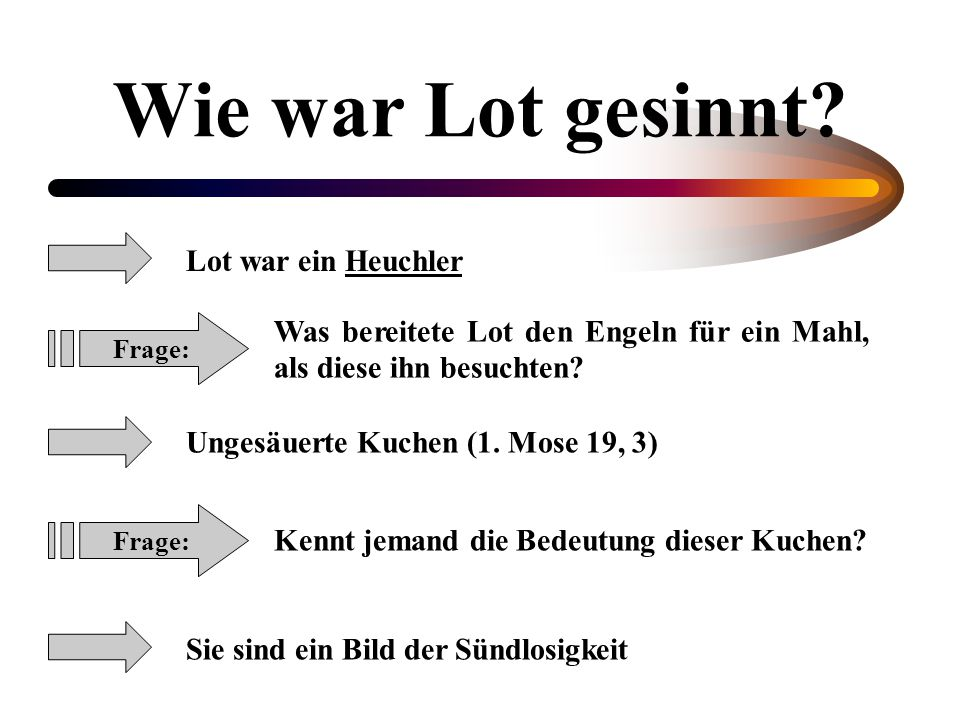 Wie war Lot gesinnt Lot war ein Heuchler