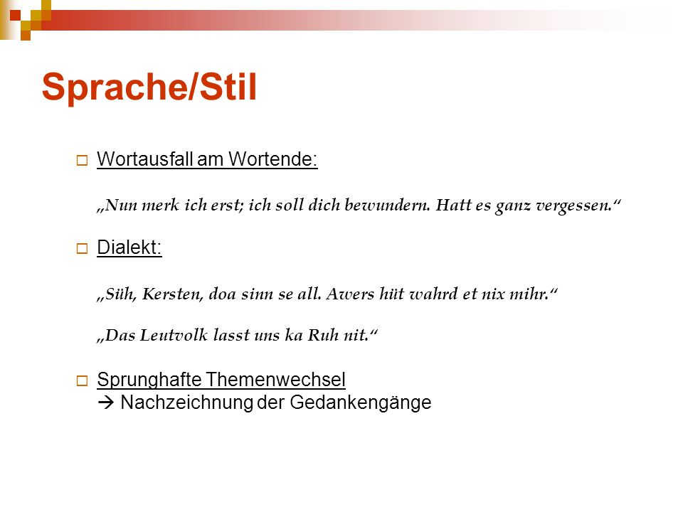 Sprache/Stil Wortausfall am Wortende: