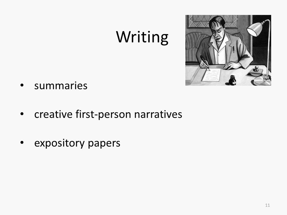 Writing summaries creative first-person narratives expository papers