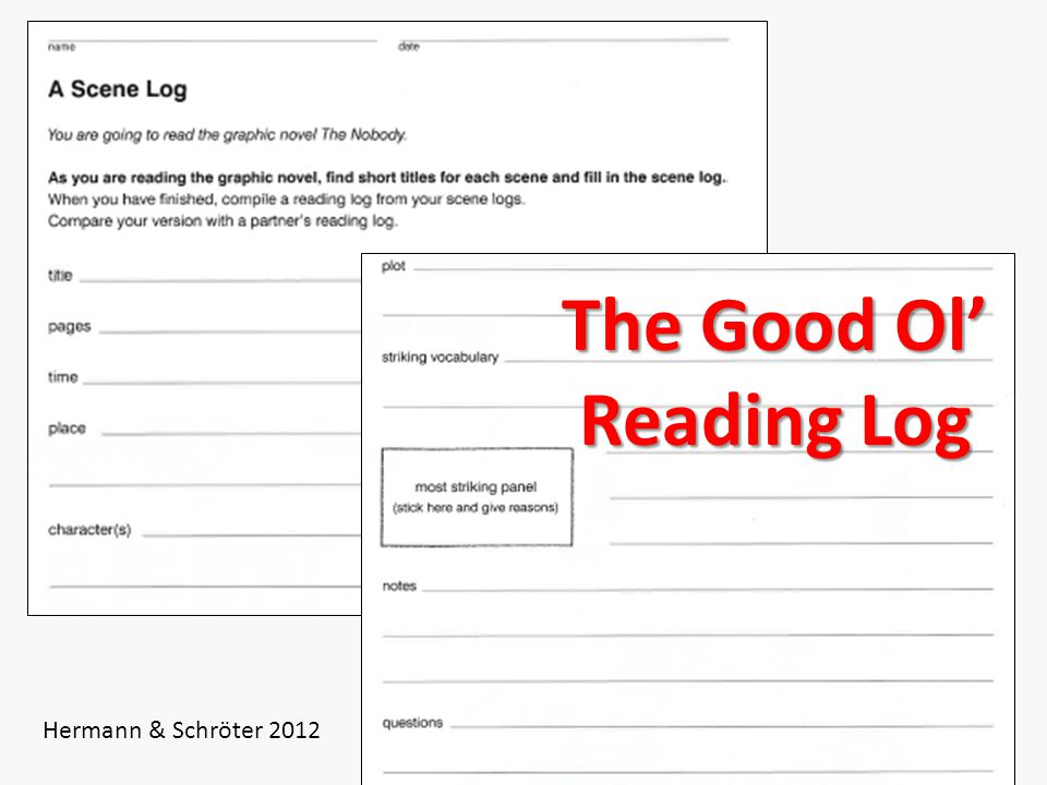 The Good Ol' Reading Log