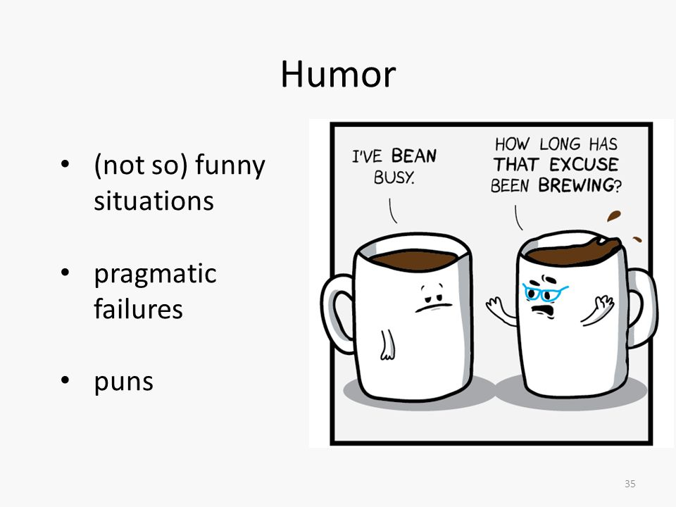 Humor (not so) funny situations pragmatic failures puns