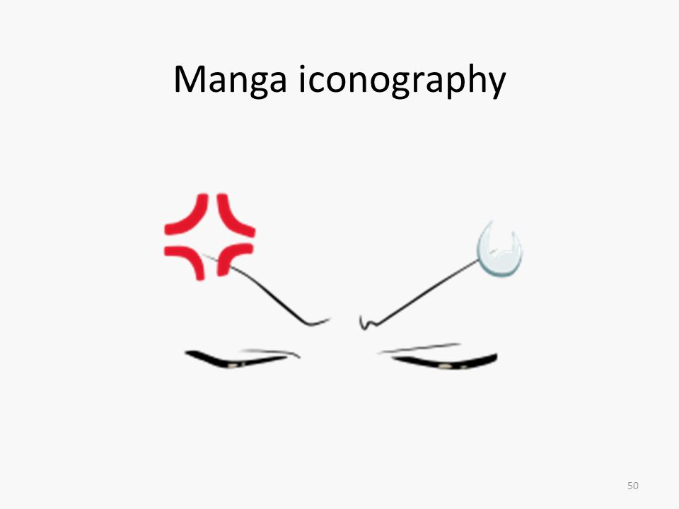 Manga iconography Cruciform > anger, irritation