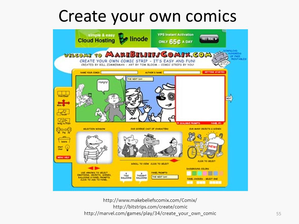 Create your own comics