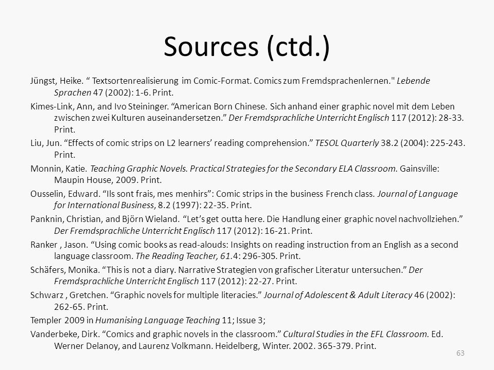 Sources (ctd.)