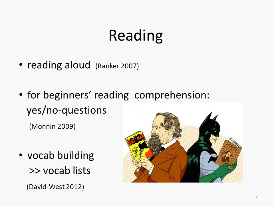Reading reading aloud (Ranker 2007)