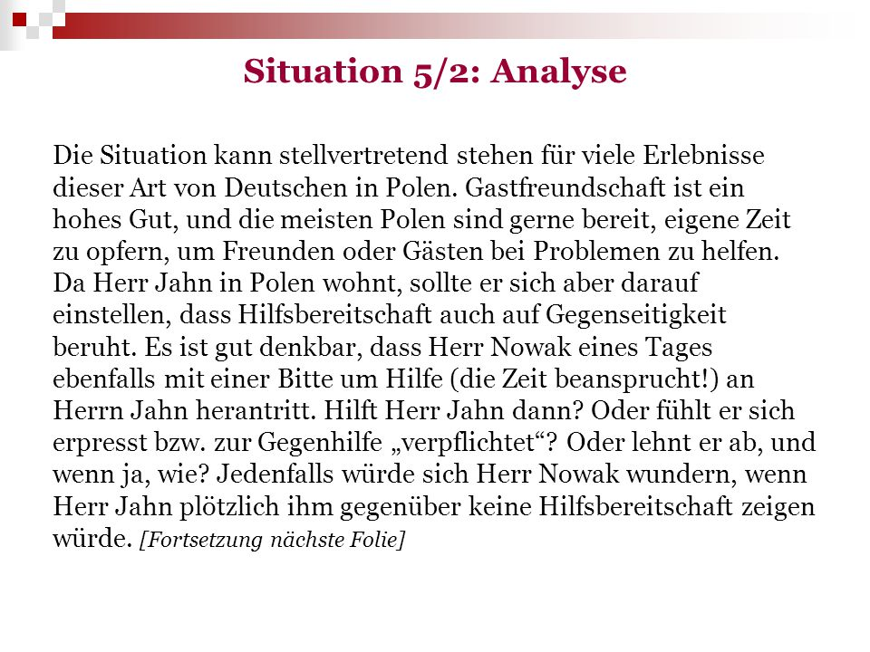 Situation 5/2: Analyse