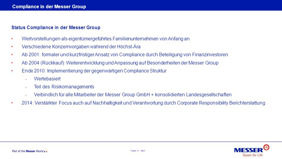 Compliance in der Messer Group