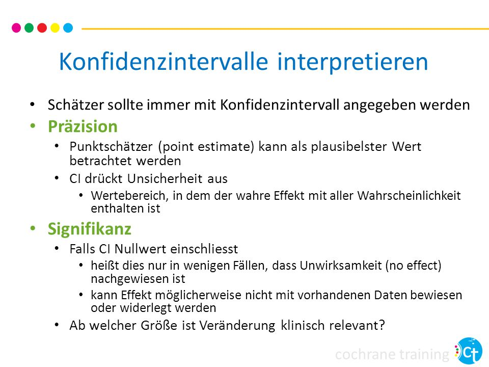 Konfidenzintervalle interpretieren