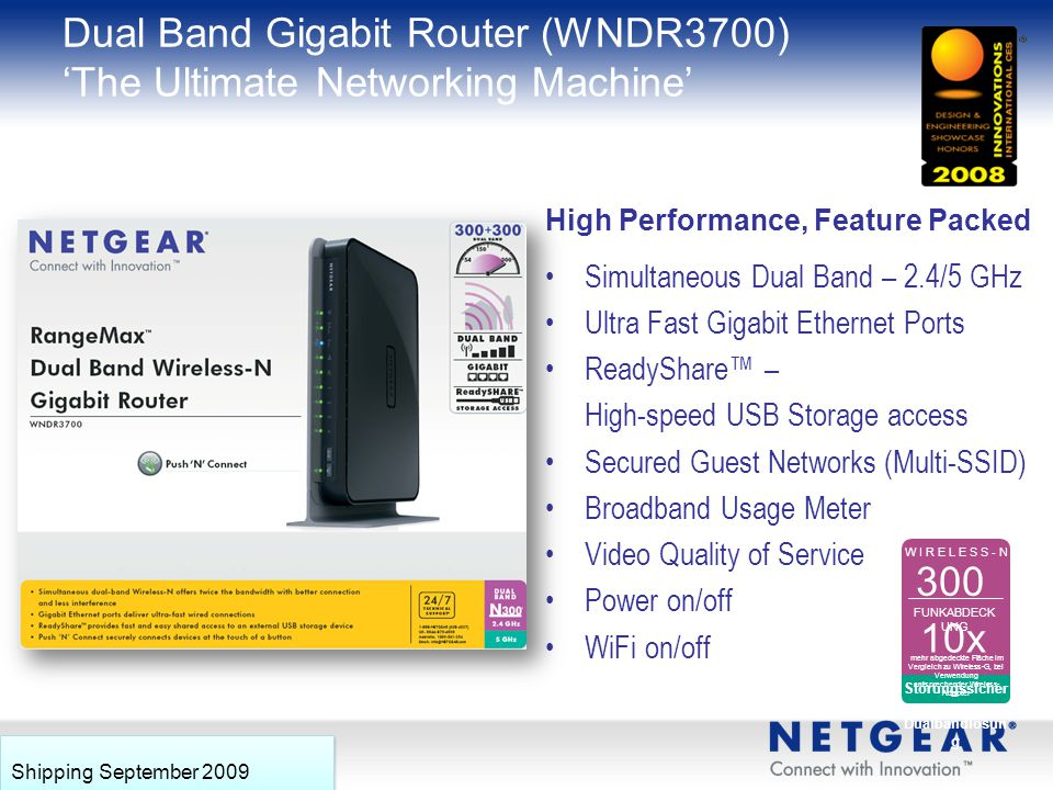Dual Band Gigabit Router (WNDR3700) 'The Ultimate Networking Machine'