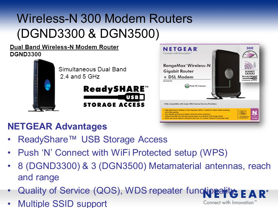 Wireless-N 300 Modem Routers (DGND3300 & DGN3500)