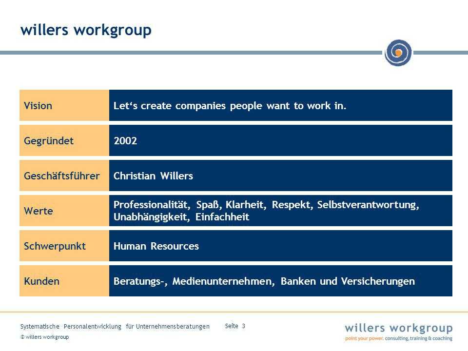 willers workgroup Vision