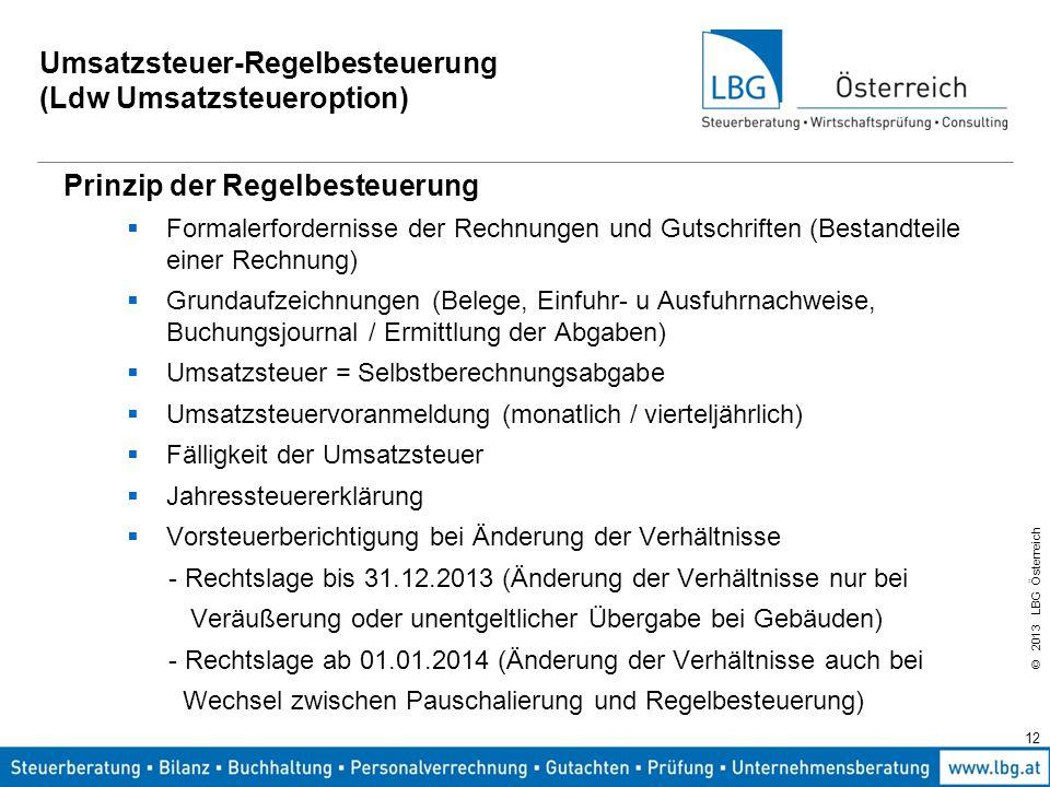Umsatzsteuerupdate 2014 Die Umsatzbesteuerung Der Luf Ppt