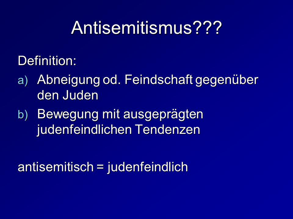 Antisemitismus Definition: