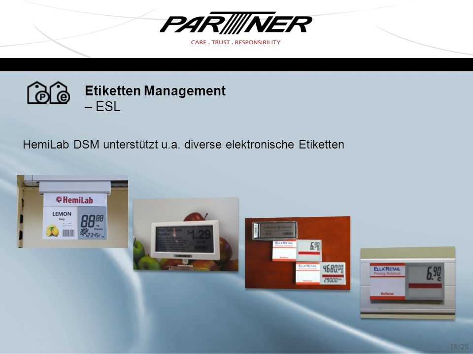 Etiketten Management – ESL
