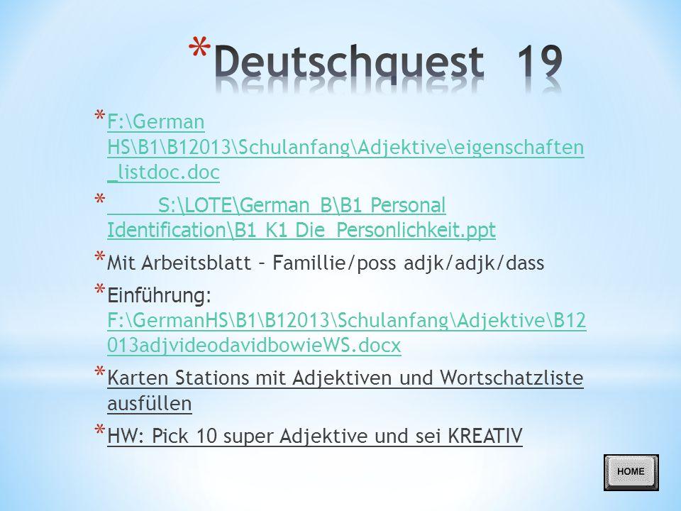 Deutschquest 1 ERWARTUNGUNGEN(expecations) - ppt herunterladen