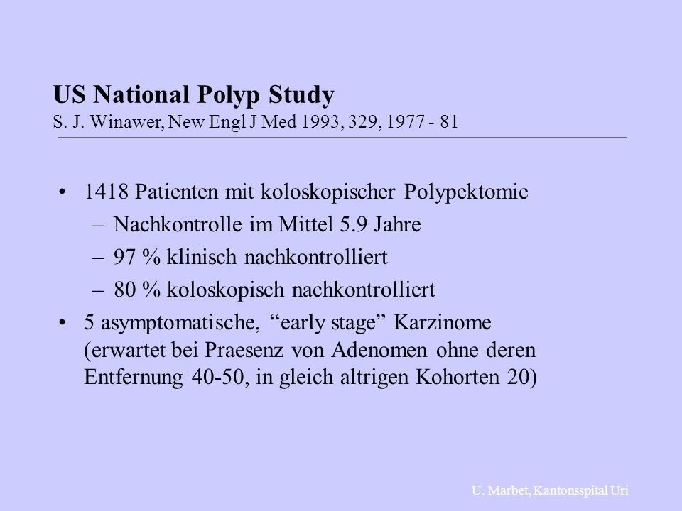 US National Polyp Study S. J