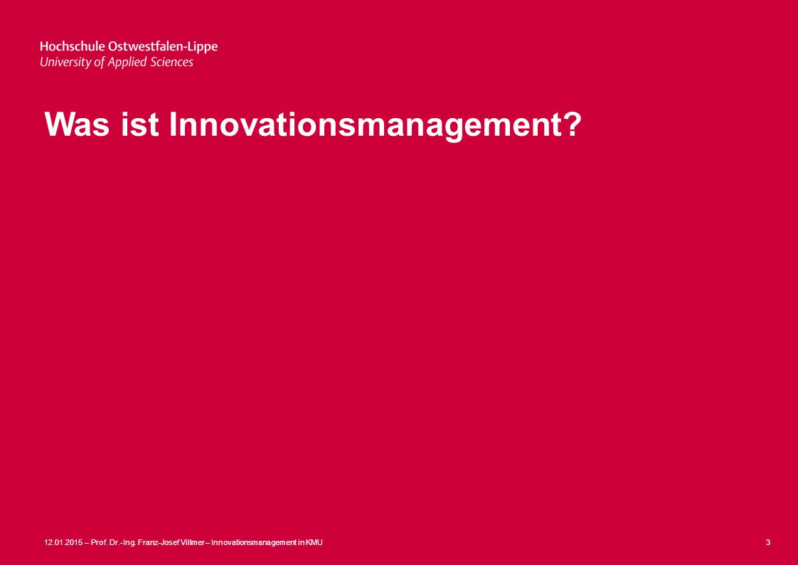 Was ist Innovationsmanagement