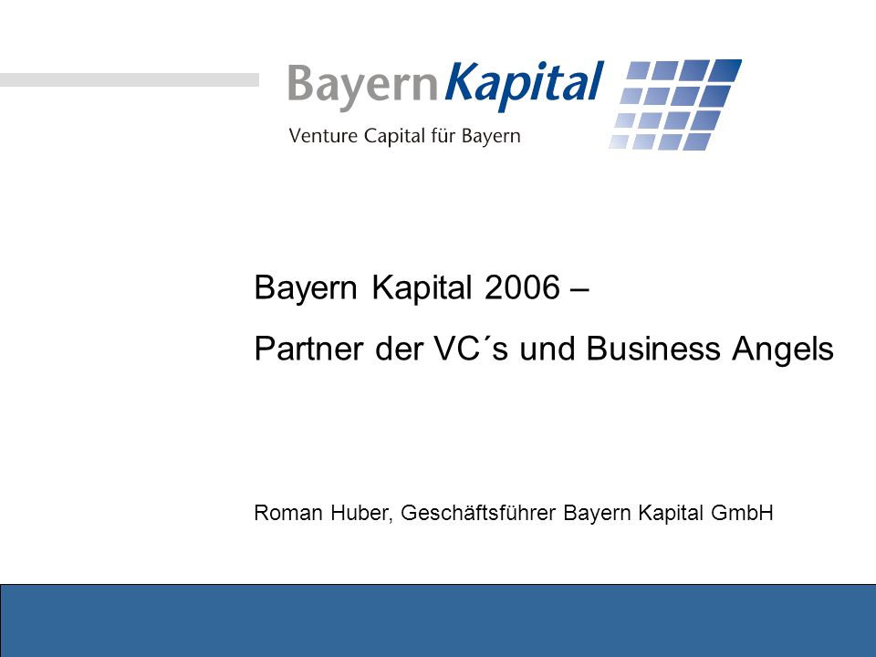 Partner der VC´s und Business Angels