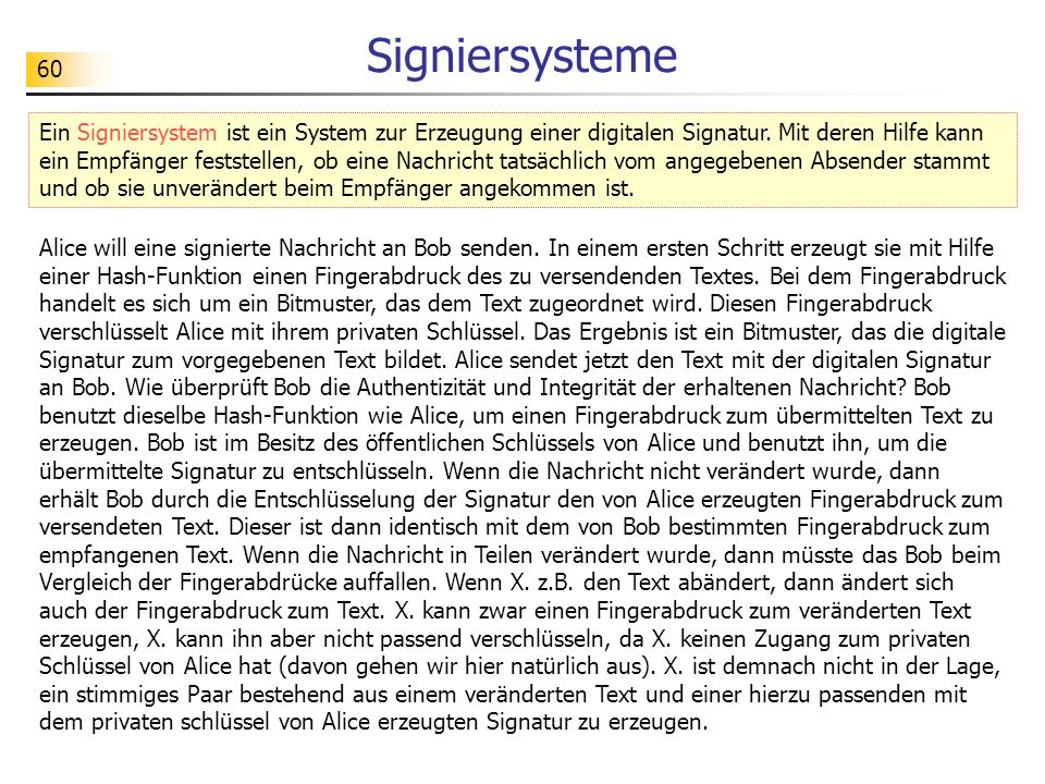Signiersysteme