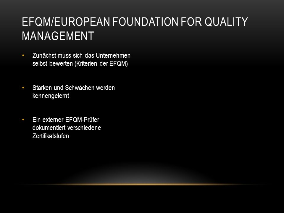 EFQM/European Foundation for Quality Management