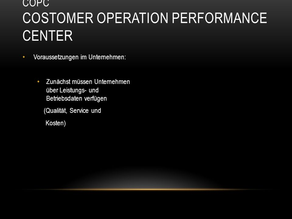 COPC Costomer Operation Performance Center