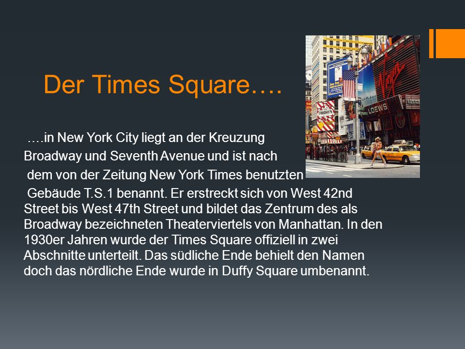 Der Times Square….