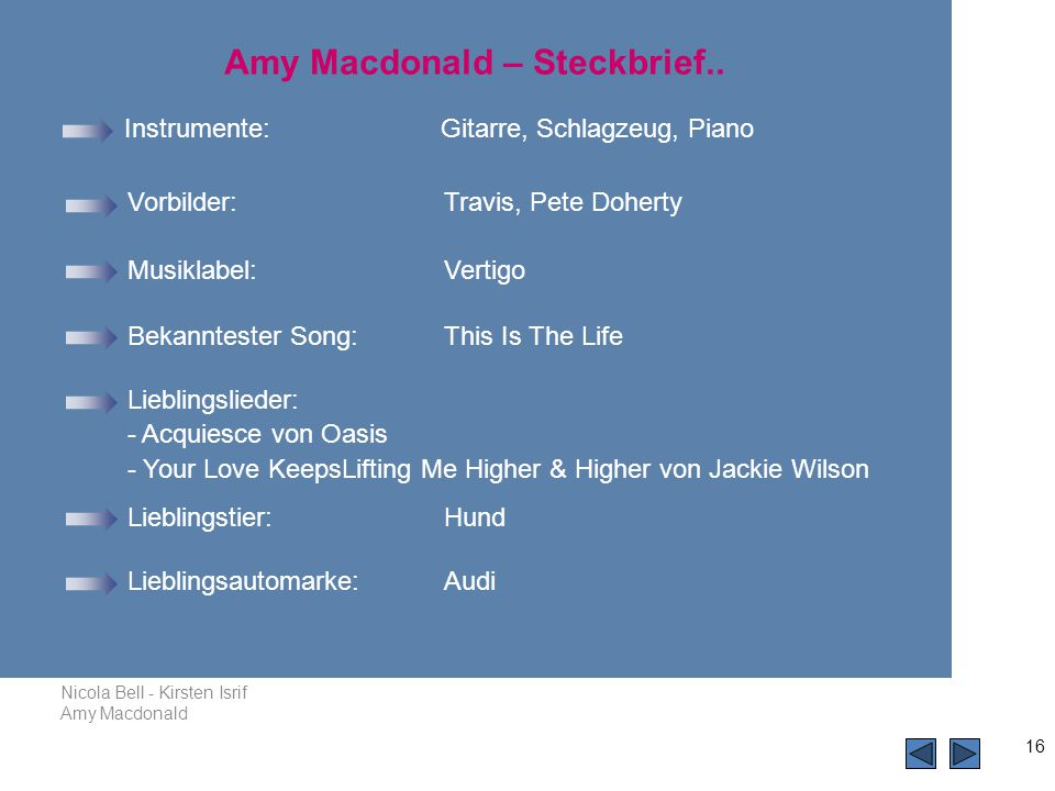 Amy Macdonald – Steckbrief..