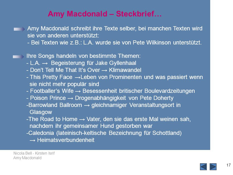 Amy Macdonald – Steckbrief…