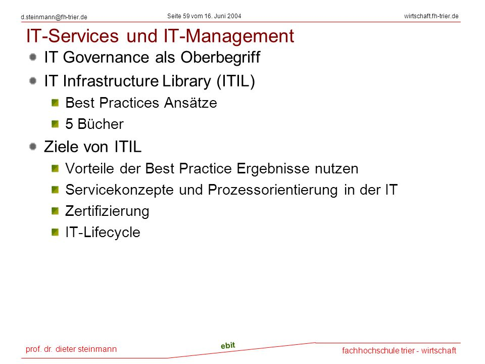 IT-Services und IT-Management