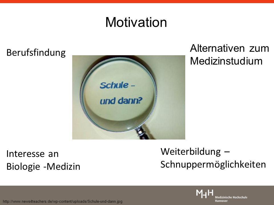 Motivation Alternativen zum Medizinstudium Berufsfindung