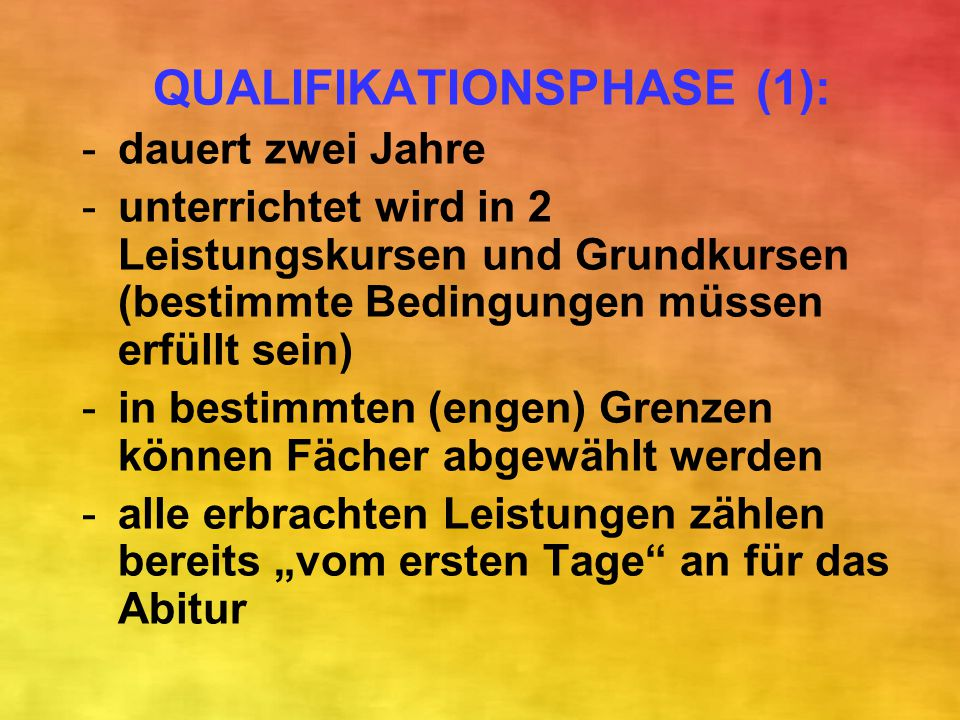 QUALIFIKATIONSPHASE (1):