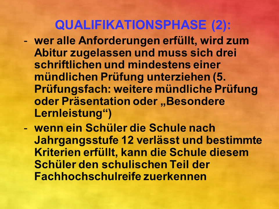 QUALIFIKATIONSPHASE (2):