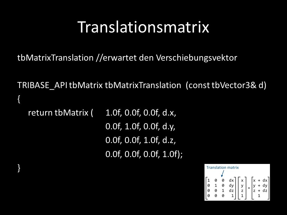 Translationsmatrix
