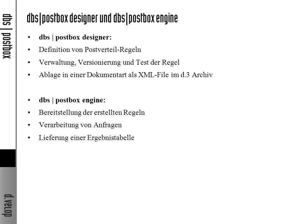 dbs|postbox designer und dbs|postbox engine dbs | postbox