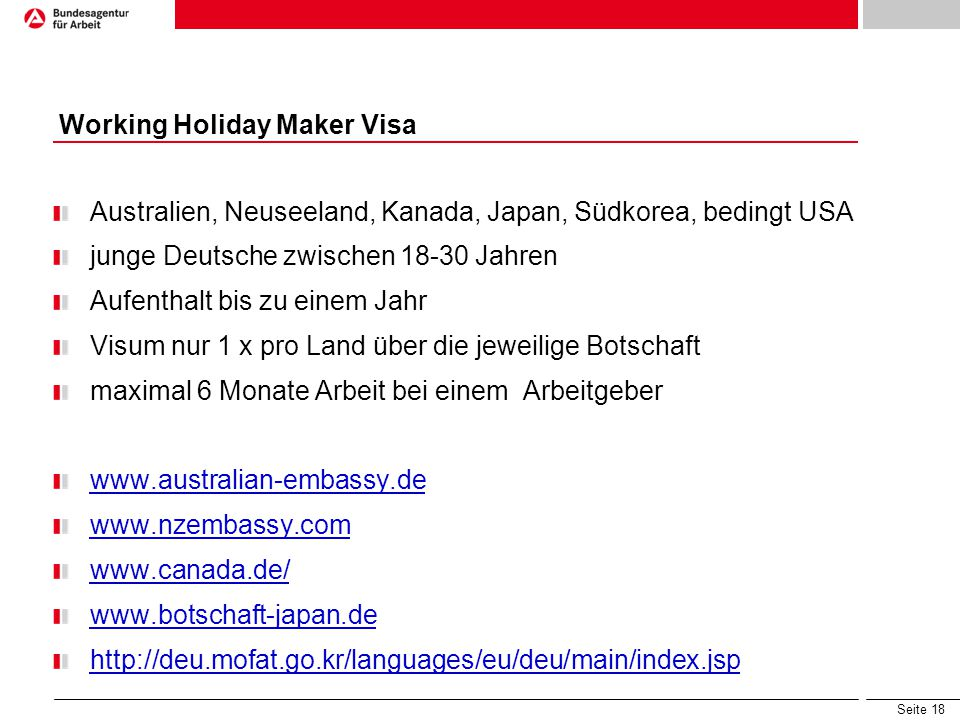 Working Holiday Maker Visa