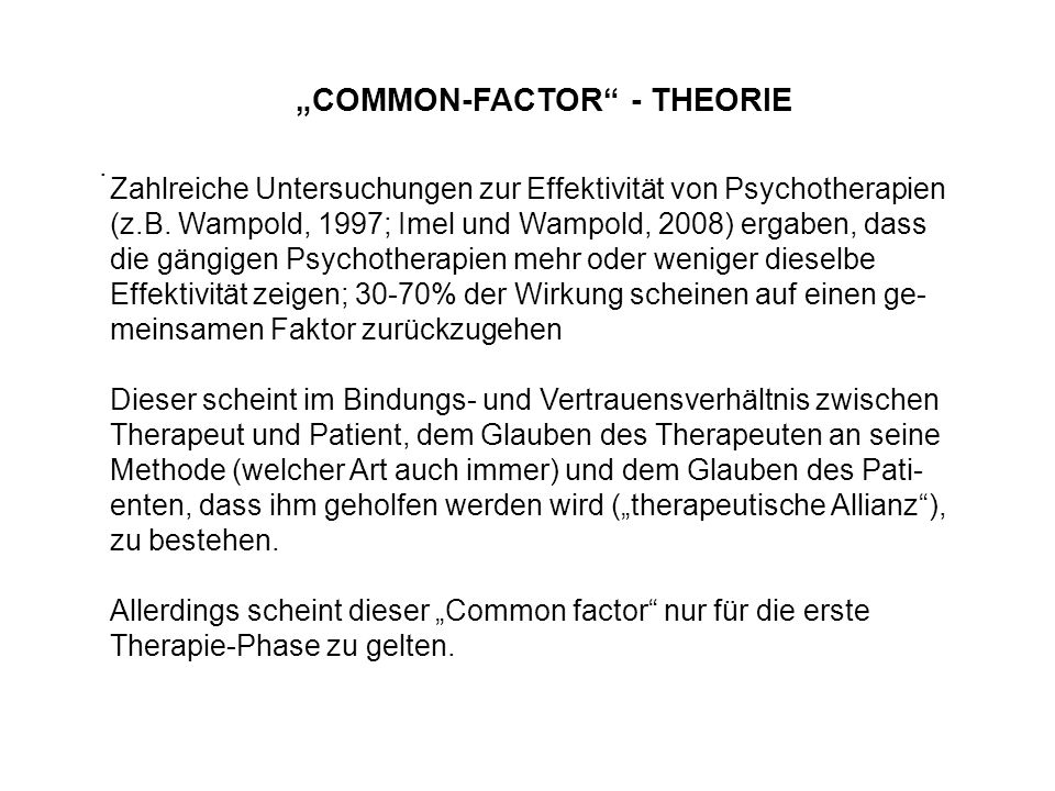"""COMMON-FACTOR - THEORIE"