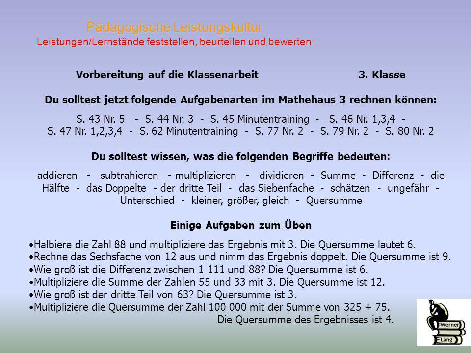 Leistungs-nachweise im Fach Mathematik Referent: Werner Lang. - ppt ...