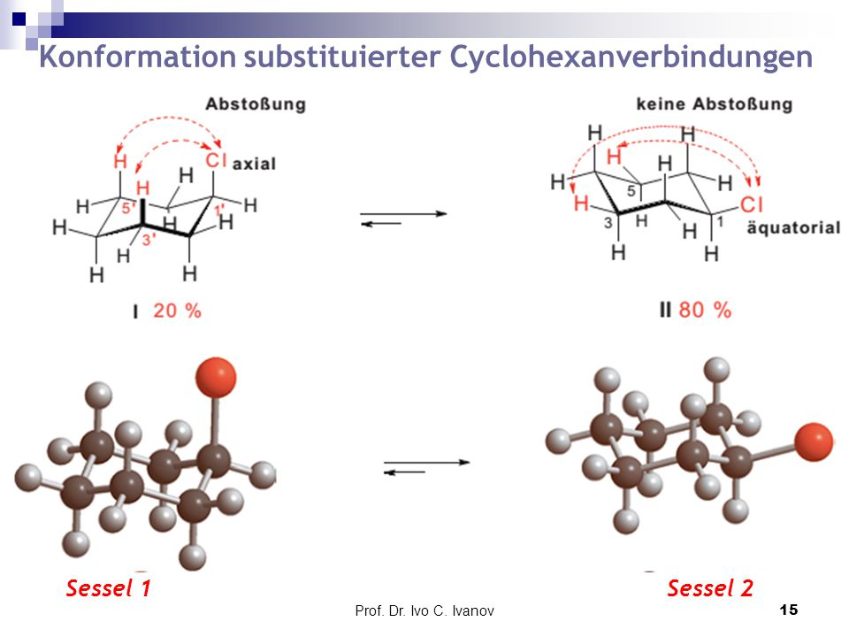 Konformation substituierter Cyclohexanverbindungen