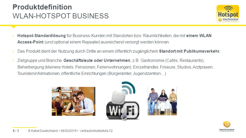 Produktdefinition WLAN-HOTSPOT BUSINESS