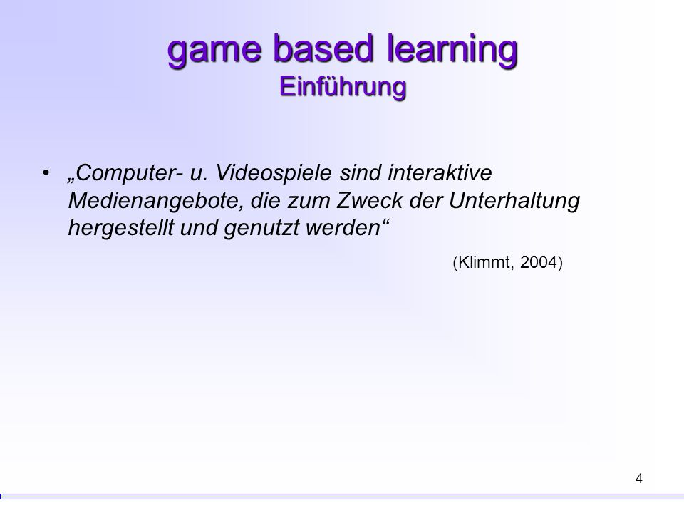 game based learning Einführung