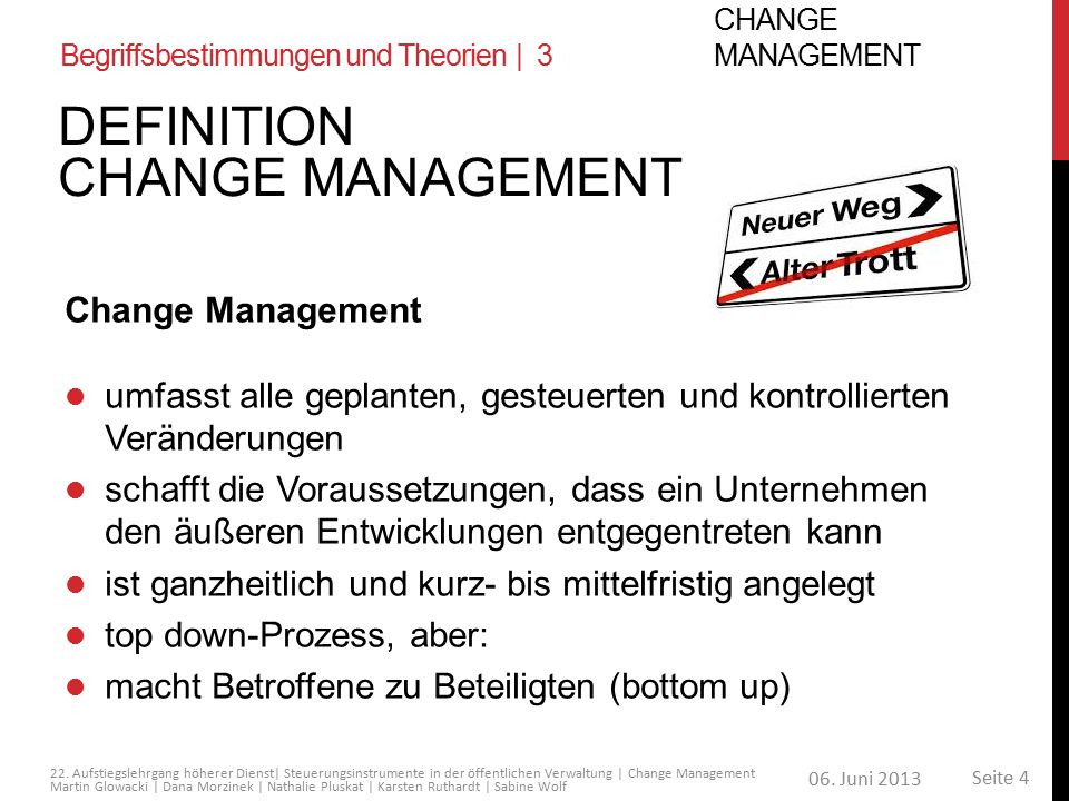 Definition Change Management