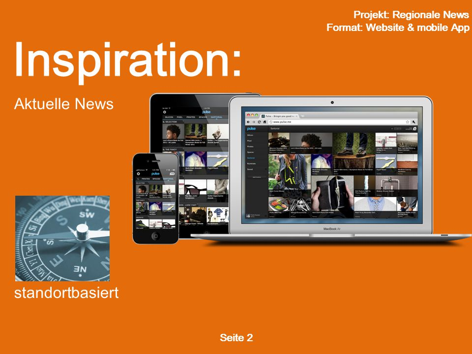 Projekt: Regionale News Format: Website & mobile App