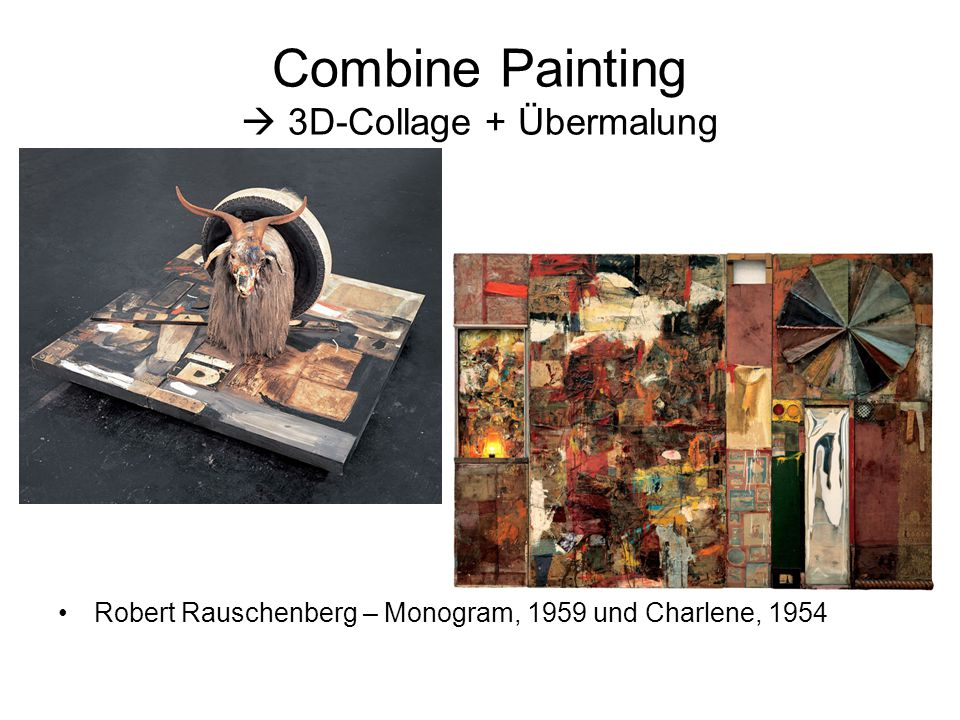 Combine Painting  3D-Collage + Übermalung