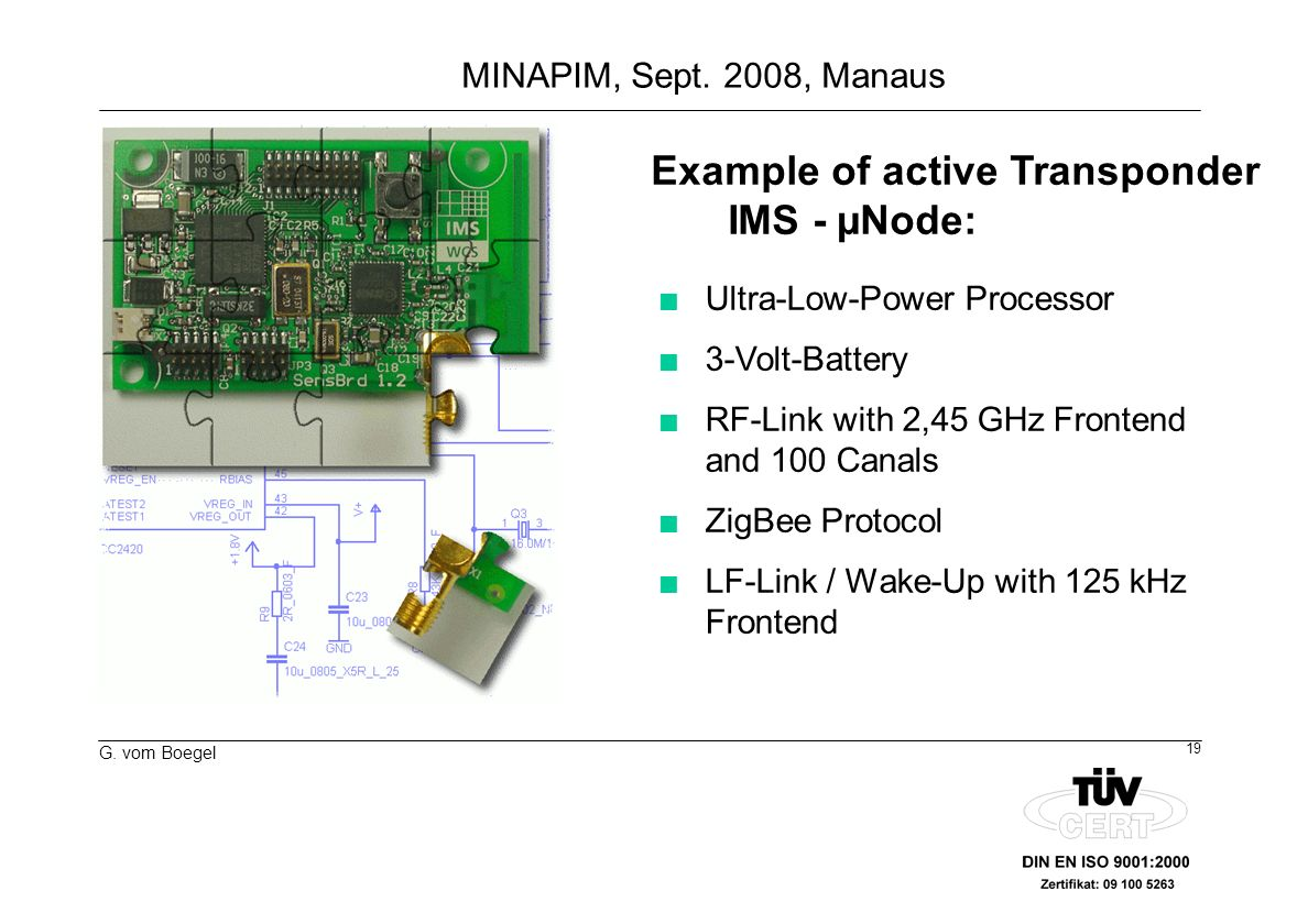 Example of active Transponder IMS - µNode: