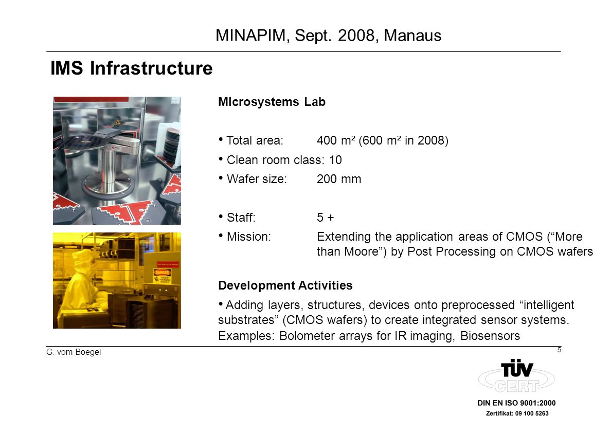 IMS Infrastructure Microsystems Lab