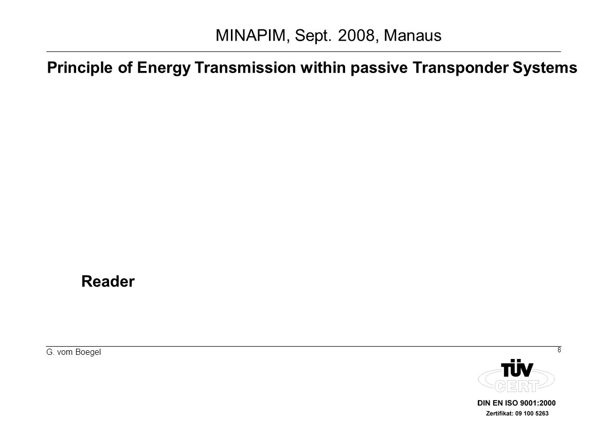 Principle of Energy Transmission within passive Transponder Systems